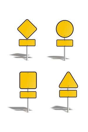 blank yellow sign backgrround Stock Photo - 19120341