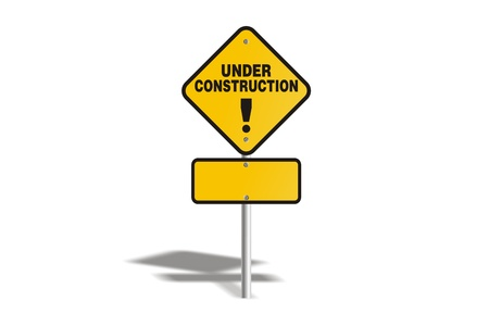 under construction yellow sign Stock Photo - 19120339