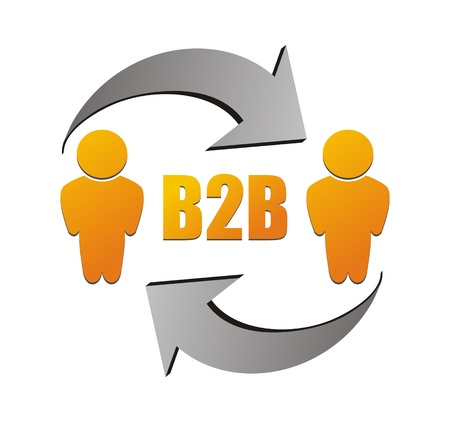 b2b: business to business, B2B ilustraci�n Vectores