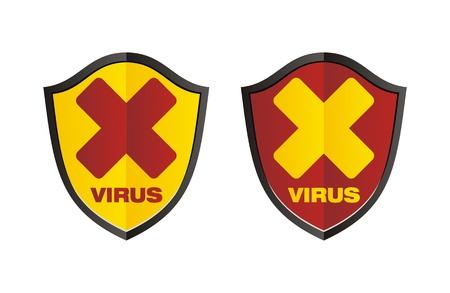 virus - shield signs Stock Vector - 19558713