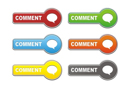 comment button sets Stock Vector - 19558727