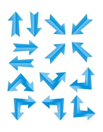 set of blue arrow Vector