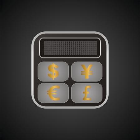 calculator currency converter button Stock Vector - 19761248