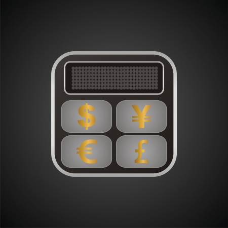 currency converter: calculator currency converter button