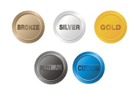 platin: Medaille Abzeichen Illustration