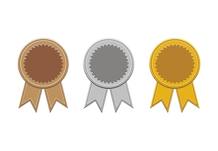 bronze,silver, and gold medals
