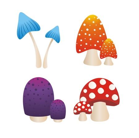 colourfull mushroom Stock Vector - 19761243