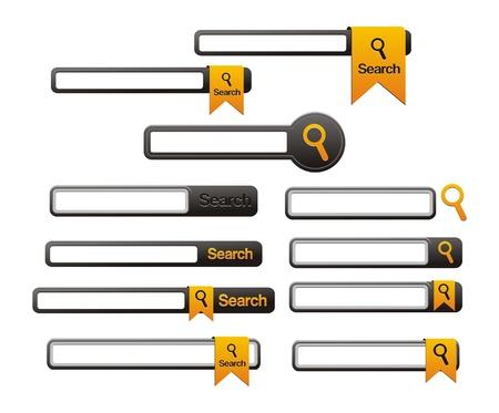 web site design template search navigation elements Vector