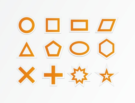 orange shapes Stock Vector - 19761239