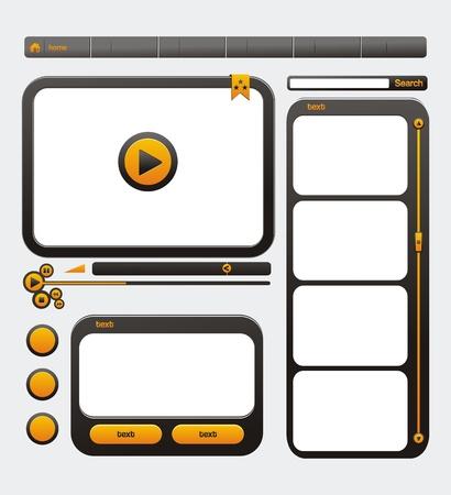 web site design template: video web site design template