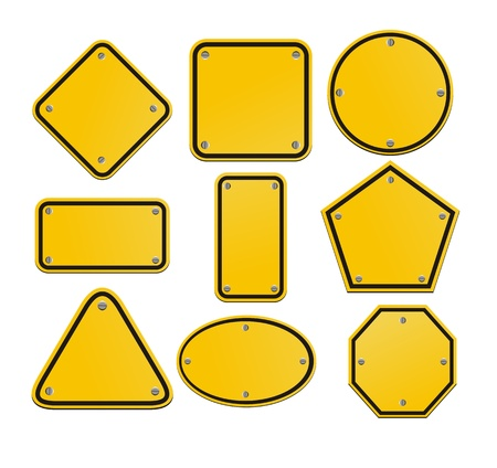 blank yellow signs Stock Vector - 19761272
