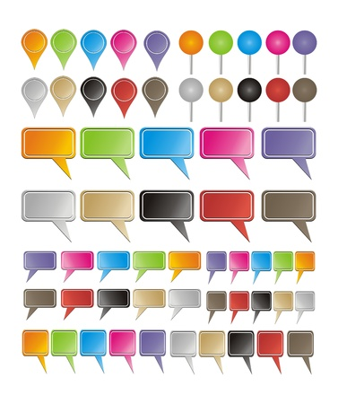 colorful pointers Stock Vector - 19761276
