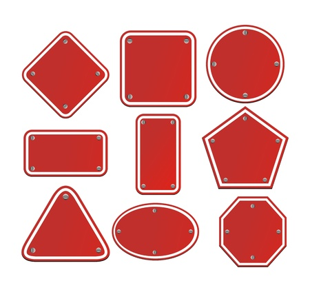 blank red signs Stock Vector - 19761269