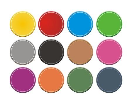 set of circle button Stock Vector - 19761267