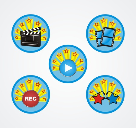 movie badge Vector