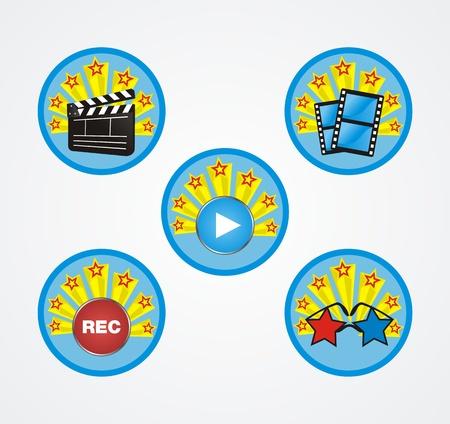 movie badge Stock Vector - 19761273