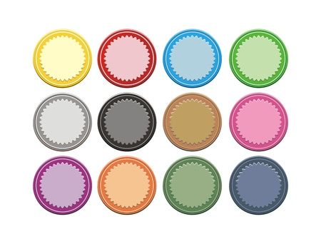 set of colorful badge Vector