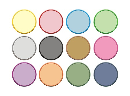 two colour circle button Vector