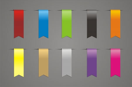 colorful ribbon vector Vector