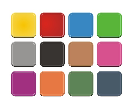 set of square button Stock Vector - 19761275