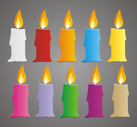 set of colorful candle vector Stock Vector - 19761306