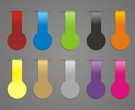 hang tag: trendy vector ribbon
