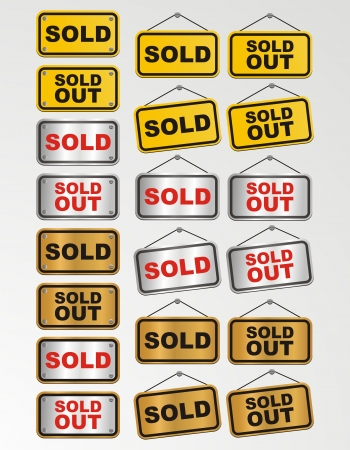 sold out sign for online shop decoration Stock Vector - 19761327