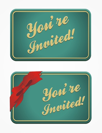 vintage invitation card - you re invited