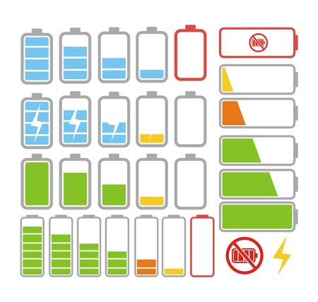 low battery: power battery icon Illustration