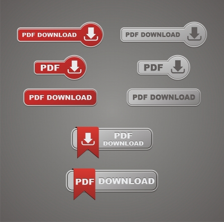 pdf download button Stock Vector - 19761360