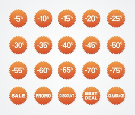 sticker sale, discount, clearance, best deal, promo Stock Vector - 19761364