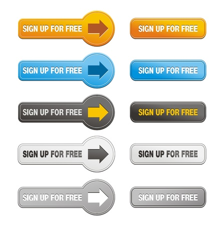 sign up button: button of sign up for free