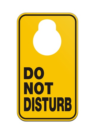 do not disturb sign: door knob hangers - do not disturb Illustration