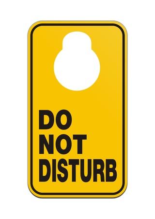 door knob hangers - do not disturb Illustration