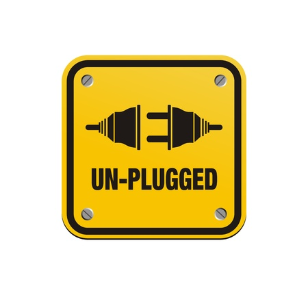 unplugged: unplugged square signs