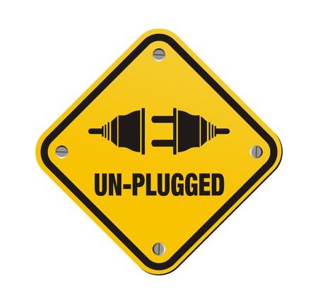 unplugged: sin enchufado se�ales amarillas