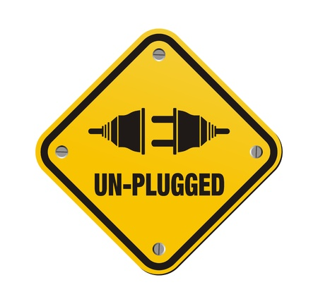 un-plugged yellow signs Vector