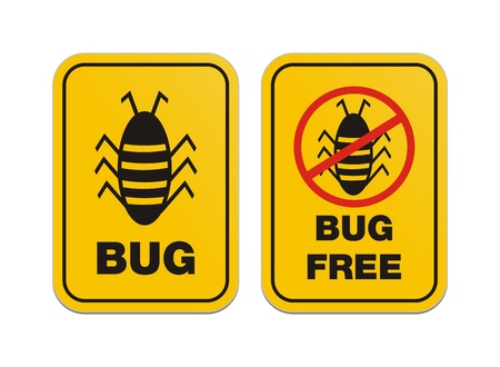 bug free - alert signs Vector