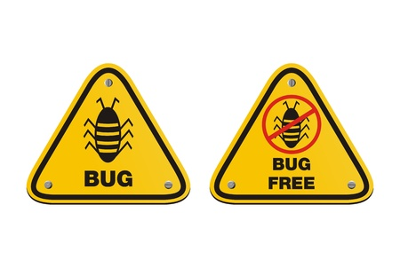 infected: bug free - yellow signs