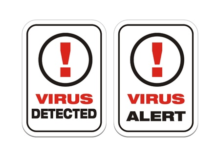 detected: virus alert, virus detected - alert signs