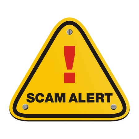 detected: scam alert triangle sign Illustration