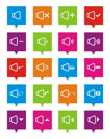 sound square pointers Vector