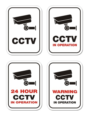 warning CCTV in operation - warning signs Vector