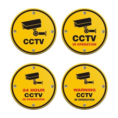 CCTV circle sign  イラスト・ベクター素材