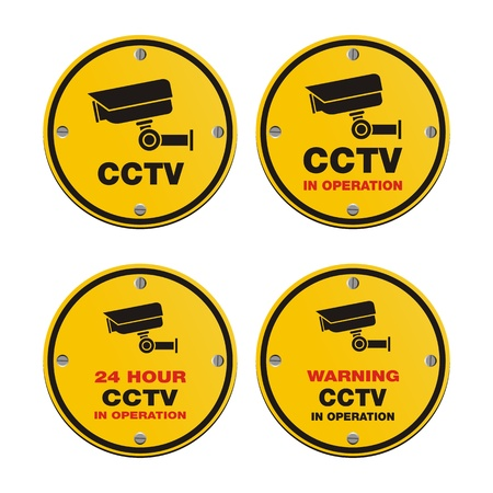 CCTV circle sign Stock Vector - 20823341