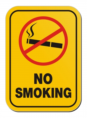 no smoking - warning sign Vector