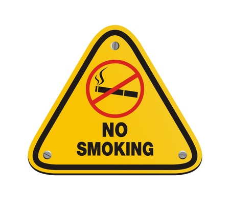 no smoking - yellow sign Vector