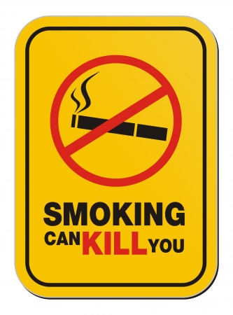 smoking can kill you sign Stock Vector - 20823354