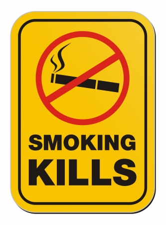 smoking kill sign Vector