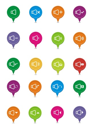 colorful sound pointers Vector